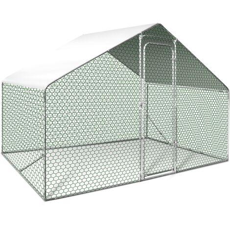 Enclos poulailler 6 m² parc grillagé 3X2m acier galvanisé