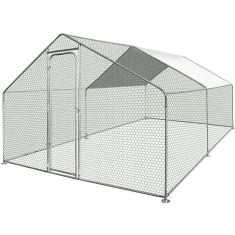 Enclos poulailler / Volière extérieur 12m2