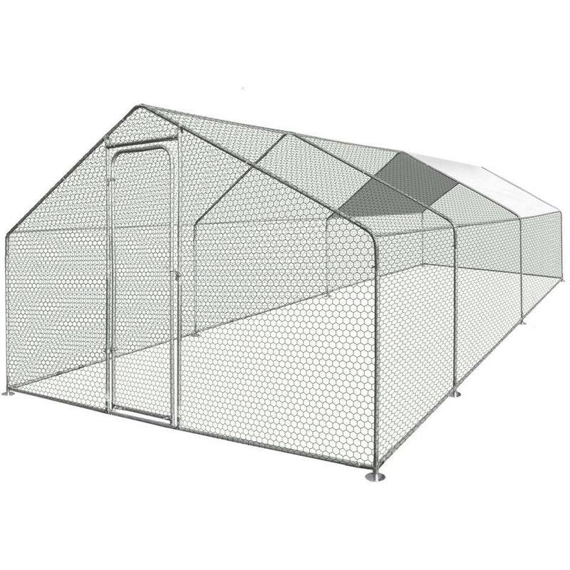 Enclos poulailler / Volière extérieur 18m2 gris 600 - gris