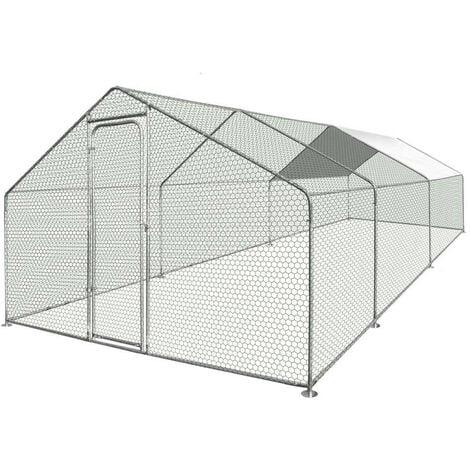 Enclos poulailler / Volière extérieur 18m2