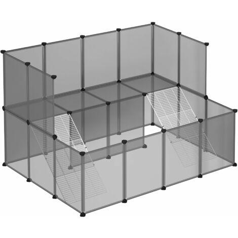 Enclos pour petit animal, clôture modulable, Gris LPC004G01 - Gris