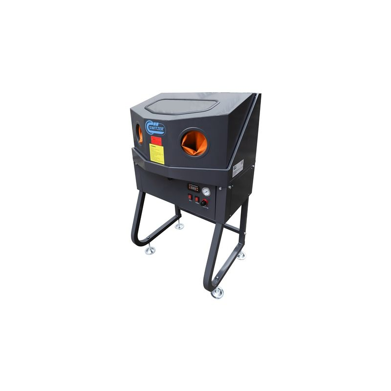 Image of KMS - Enclosed SwitZer Parts Washer With Auxiliary Heating System Orange XH-EPW160-H
