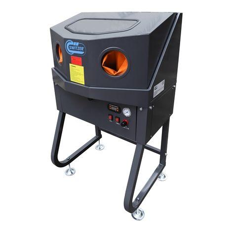 "main image of ""Enclosed SwitZer Parts Washer With Auxiliary Heating System Orange XH-EPW160-H"""