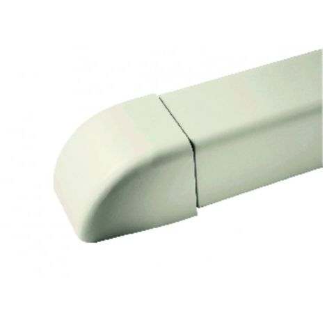 End cap for cable duct 60x80 cream-coloured 9001