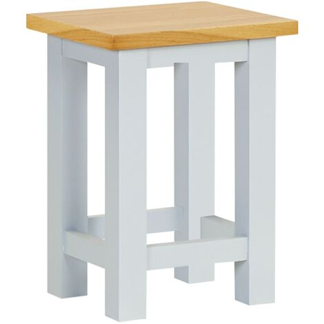 End Table 27x24x37 cm Solid Oak Wood