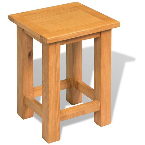 End Table 27x24x37 cm Solid Oak Wood - Brown