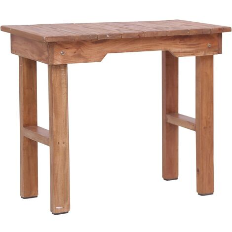 End Table 70x35x60 cm Solid Mahogany Wood