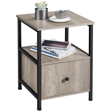 """main image of """"End Table Bedside Table Side Table Nightstand Side Table Mental Frame table for Living Room/Bedroom/Office"""""""