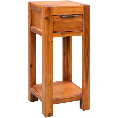 End Table Solid Acacia Wood 30x30x70 cm