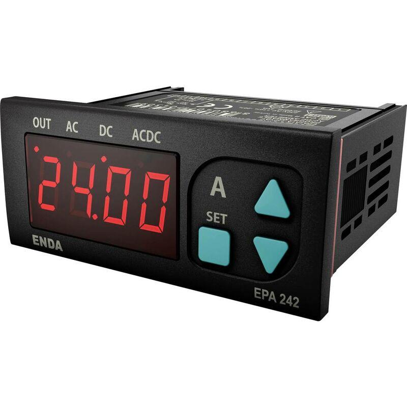 Enda EPA242-R-230 Strumento di misura digitale da pannello Amperometro LED programmabile EPA241A-R ±5 A/AC/DC