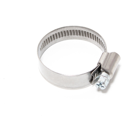 Endless wormdrive hose clamp W4 stainless steel width 12mm clamping range 0.98-1.57 inch (25-40mm)