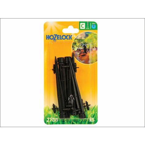 Endline Adjustable Mini Sprinkler on Stake 4mm (5 Pack) (HOZ2788)