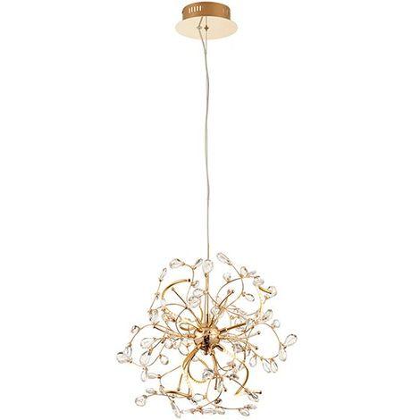 Endon Lighting Willa 6Lt Ceiling Pendant Light 2.5W Warm White Gold Effect