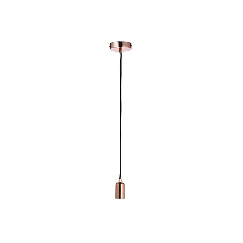 Image of 76578 Studio 1 Light Ceiling Pendant Copper Plate - Endon