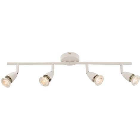 Powermaster Basic Single Brushed Chrome Indoor Bar Head Spot Light Spotlight