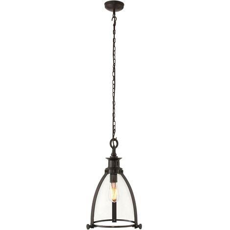 Endon - Ceiling Pendant Light Bronze, Glass, E27