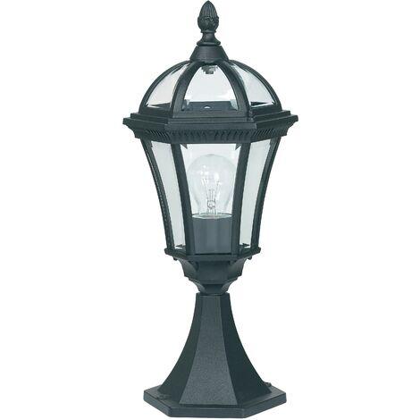 Endon Drayton - Outdoor Pedestal Light Black IP44, E27