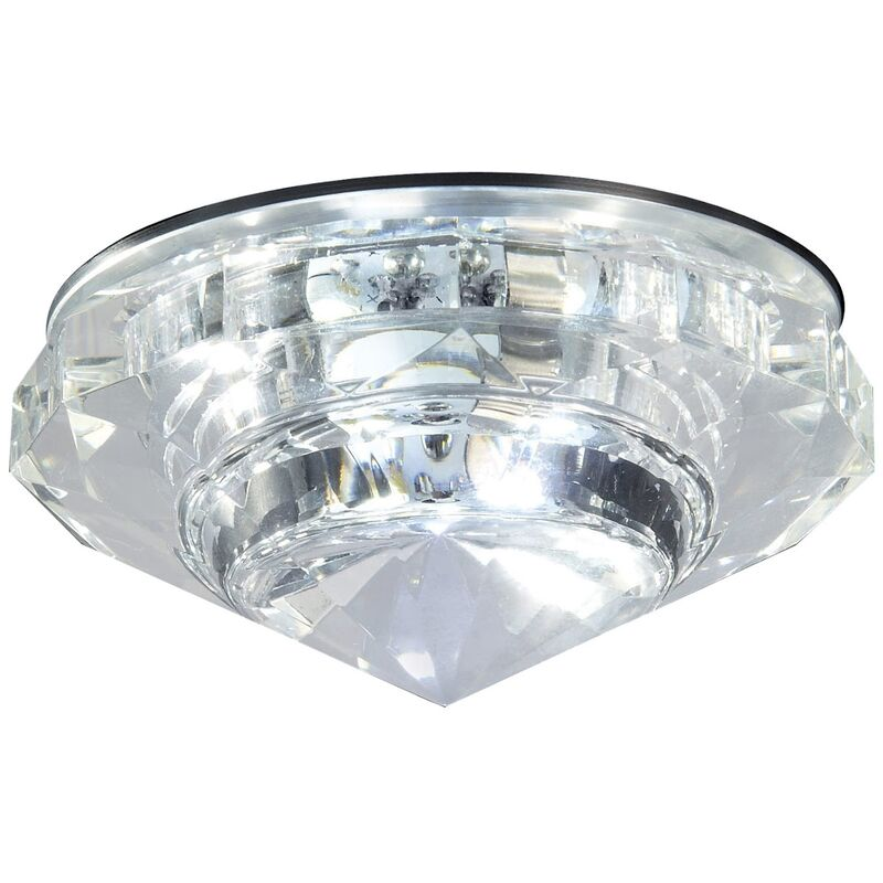 Image of Crystal LED Downlight Ceiling Mounted Cool White Light - Bathroom Origins