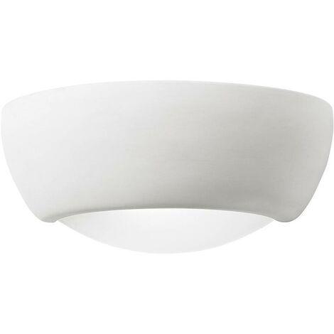 Endon Eton - 1 Light Indoor Plaster Wall Uplighter Unglazed Ceramic, E27