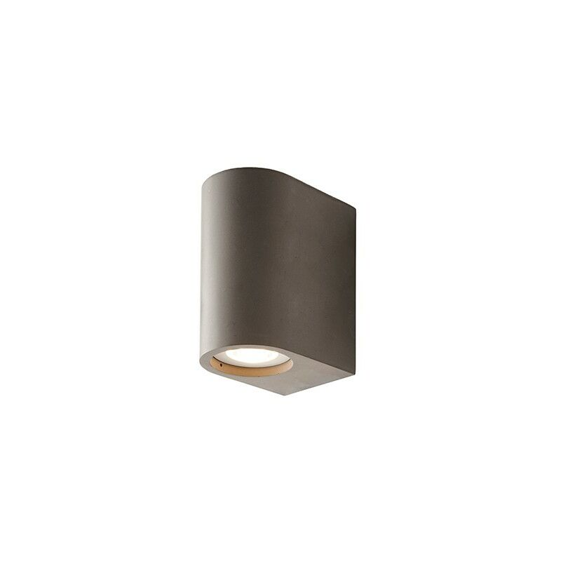 Image of Anders - Integrated LED Wall Lamp Grey Smooth Cement 2 Light IP20 - Endon Lighting