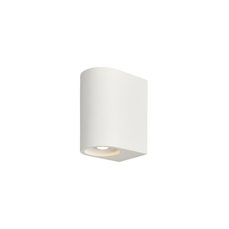 Image of Anders - Integrated LED Wall Lamp White Plaster 2 Light IP20 - Endon Lighting
