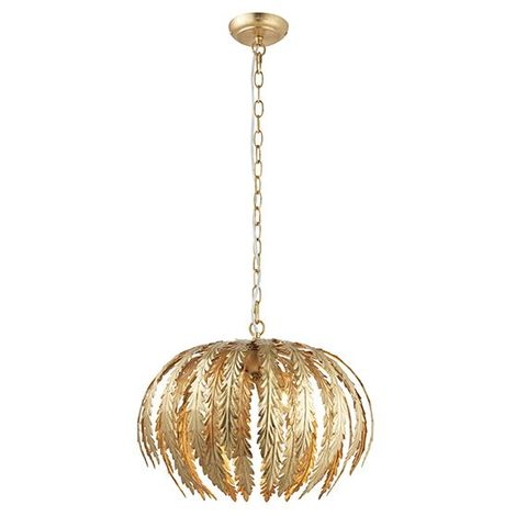 Endon Lighting Delphine 3 Light Ceiling Pendant Gold Effect Lovely Design Shade