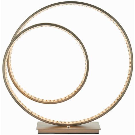 Endon Lighting Eternity - Integrated LED Table Lamp Matt Nickel Plate & Crystal (K5) Detail IP20