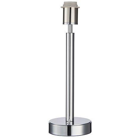 Endon Lighting Owen USB - Table Lamp Chrome Effect Plate 1 Light IP20 - E27