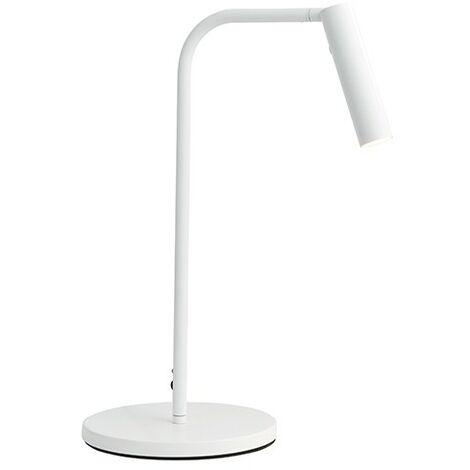 Endon Lighting Staten - Integrated LED Table Lamp Matt White Paint 1 Light IP20