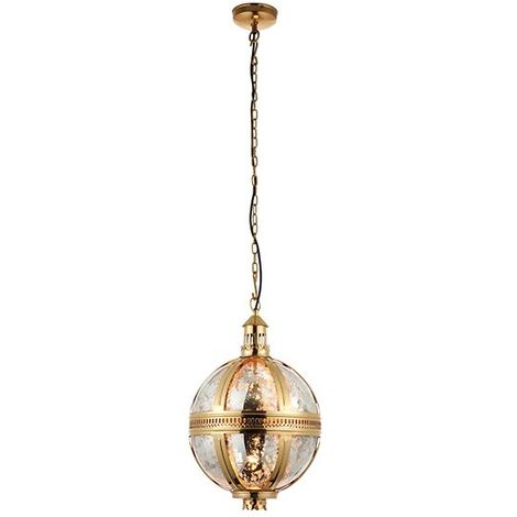 Endon Lighting Vienna 305Mm Ceiling Pendant Light 40W - Brass Industrial Look