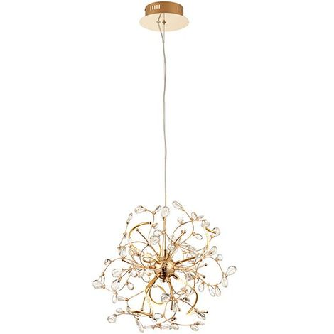 Endon Lighting Willa 6Lt Ceiling Pendant Light 2.5W Warm White Gold Effect