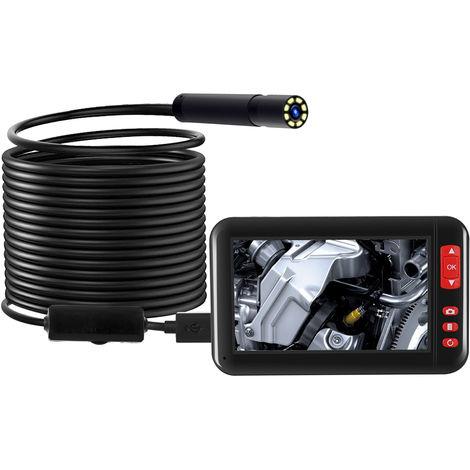 Endoscopio 1080P de 4.3 pulgadas, micro lente de 8 mm, cable flexible de 10m