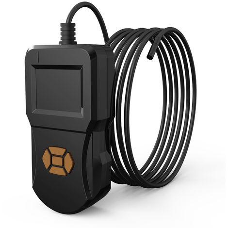 Endoscopio casero industrial de 2.4 pulgadas, lente de 5.5 mm, cable duro de 5 m, negro