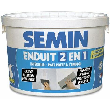 Enduit 2 en 1 multifonctions Semin - joint et lissage de la plaque de plâtre - intérieur - seau de 7 kg