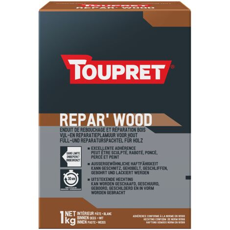 Enduit bois poudre Repar Wood Toupret 1kg