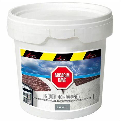 Enduit de cuvelage hydrofuge - Étanchéité cave sous-sol garage - ARCACIM CAVE