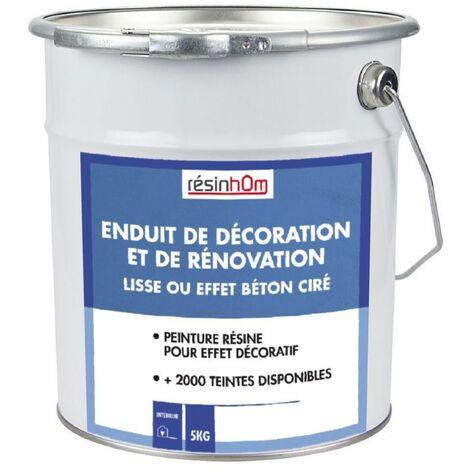 Enduit de Décoration et de Rénovation (lisse ou effet béton ciré) | Gris foncé RAL 7039 - 10 KG - Gris foncé RAL 7039
