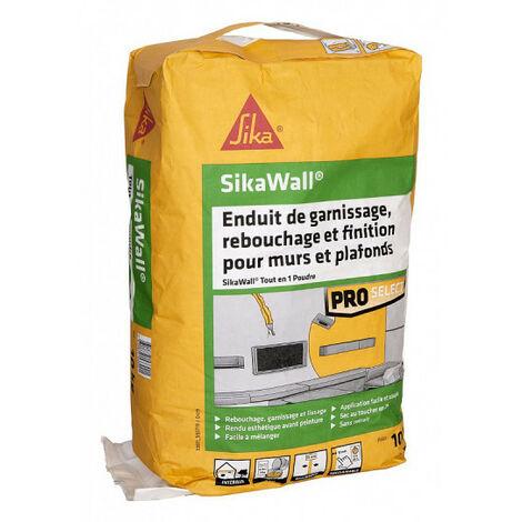 Enduit de garnissage SIKA SikaWall tout en 1 en poudre - 10kg