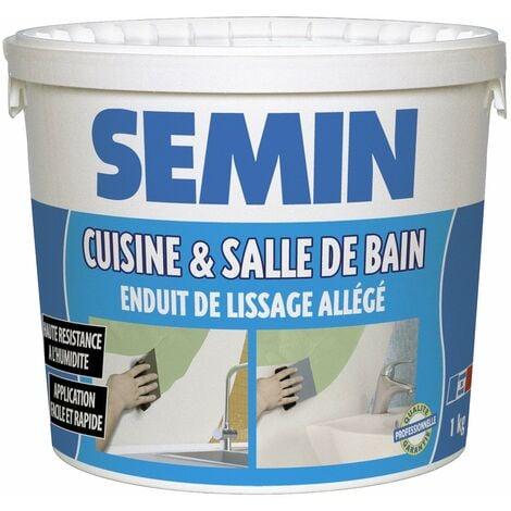 """main image of """"Enduit de lissage cuisine et salle de bain Semin - adapté aux pièces humides - seau de 1 kg"""""""