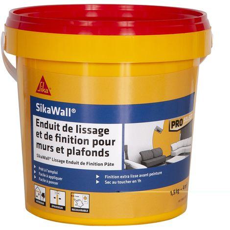 Enduit de lissage SIKA SikaWall et de finition en pâte - 1,5kg - Blanc