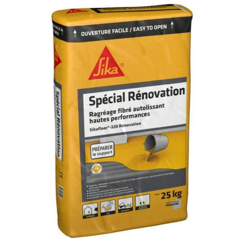 Enduit de ragréage autolissant fibré SIKA Level Rénovation - Pour sols intérieurs en neuf et rénovation 25 Kg