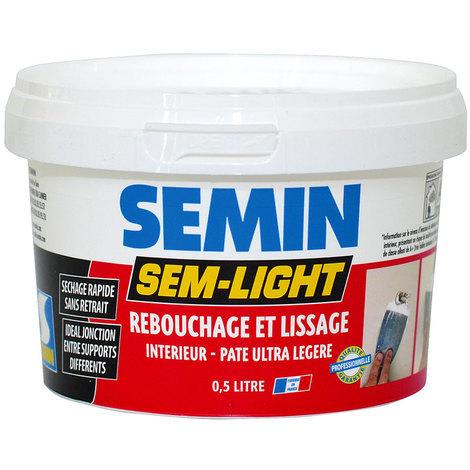 Enduit de rebouchage et lissage SEM-LIGHT Semin : Prêt à l'emploi et allégé SEM-LIGHT rend vos travaux faciles