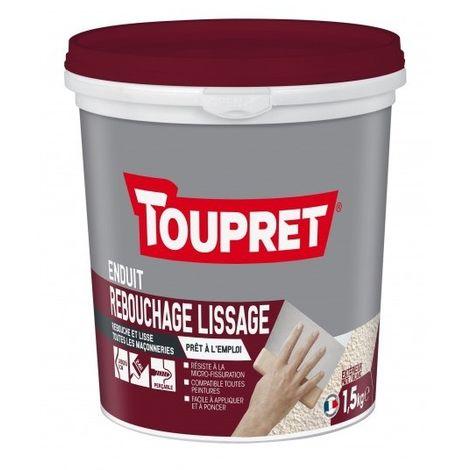 Enduit de rebouchage lissage pour façade 2 en 1 pâte 1,5 kg