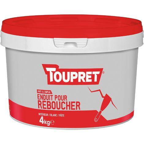 Enduit de rebouchage pâte Toupret - 4 kg - Blanc