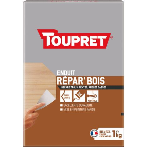 Enduit de réparation bois en poudre Toupret - 1 kg - Chêne naturel