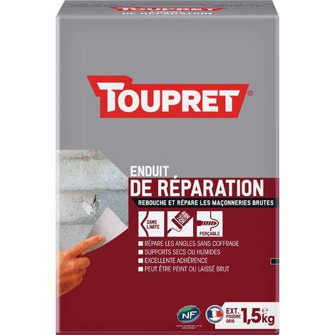 Enduit de réparation extérieure poudre Toupret - 1,5 kg - Gris