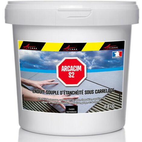 Enduit d'étanchéité sous carrelage dalle et chape extérieure - ARCACIM S2