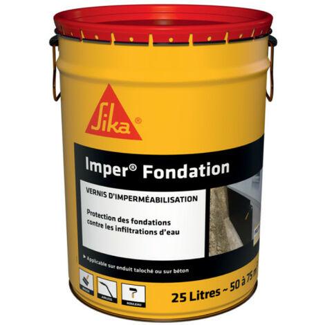 Enduit d'imperméabilisation des fondations en béton - SIKA Imper fondation - Noir - 25L