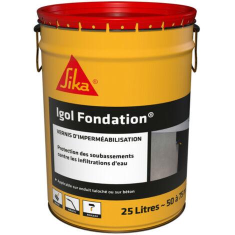 Enduit d'imperméabilisation et de protection des fondations - SIKA Igol Fondation - Noir - 25kg