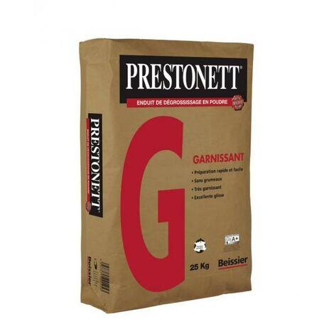 Enduit en poudre dégrossissant PRESTONETT G blanc délai de recouvrement 12 h ép. 5 mm sac de 25kg